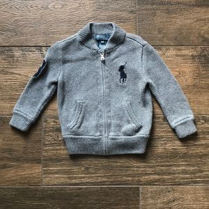 Polo boys zip up sweater